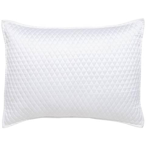 Diamond Stitched White Standard Pillow Sham