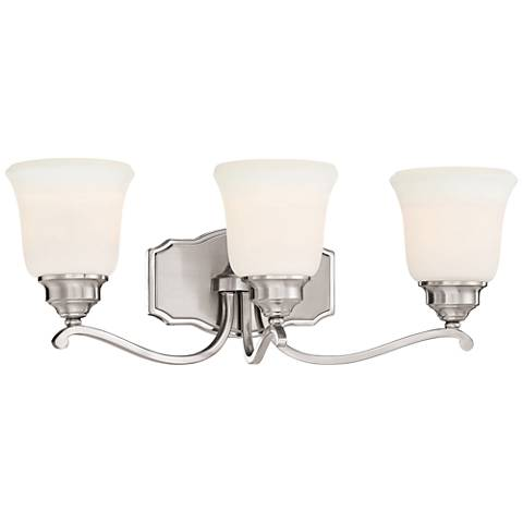 "Savannah Row 22 3/4"" Wide Brushed Nickel 3-Light Bath Light"