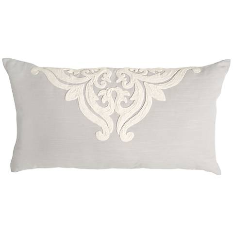Patrina Fog Hand-Embroidered Cotton King Pillow Sham