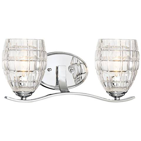"Austine 16 1/4"" Wide Chrome 2-Light Bath Light"