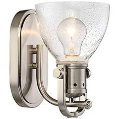 Minka Lavery Industrial Bathroom Lighting Lamps Plus - Satin nickel bathroom sconces