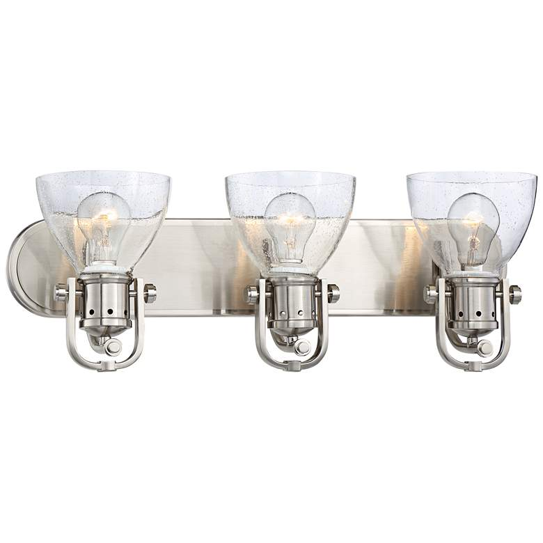 "Bath Art 24"" Wide Brushed Nickel 3-Light Bath"