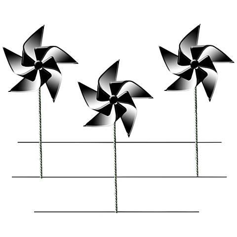 "Pinwheel Trio 30"" High Metal Wall Art"