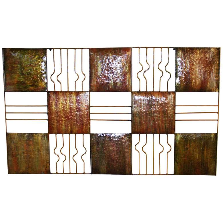 "Web Squares 30"" Wide Metal Wall Art"