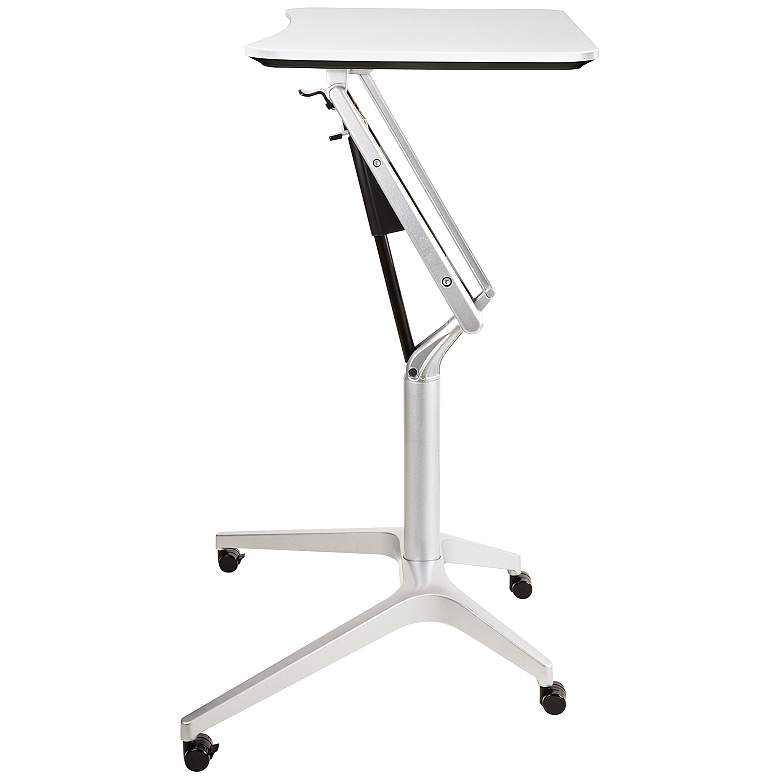"201 Collection 27 1/2"" Wide White Adjustable Laptop Desk"