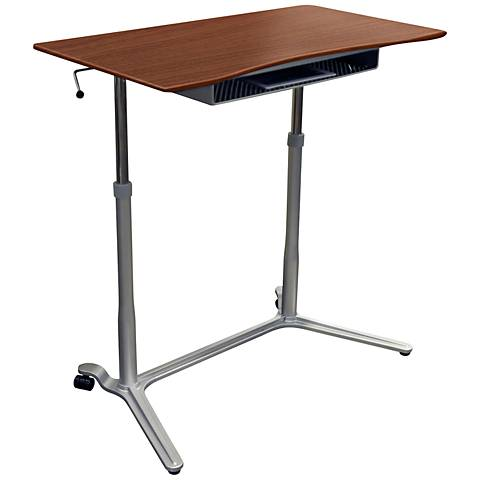 Unique 204 Cherry Height Adjustable Sit Stand Desk