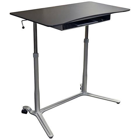 Unique 204 Espresso Height Adjustable Sit Stand Desk