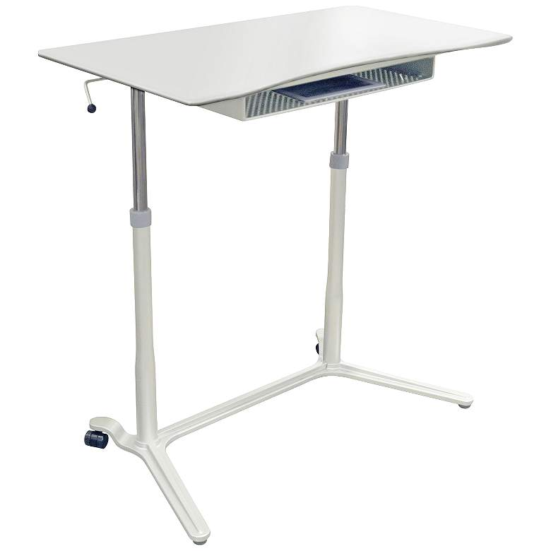 """204 Collection 38"""" Wide White Adjustable Stand-Up Desk"""