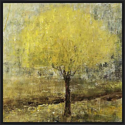 """Lemon Lit Tree21"""" Square Framed Wall Art"""