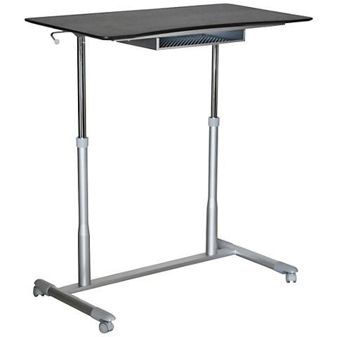 205 Espresso Mobile Stand Up Height Adjustable Desk