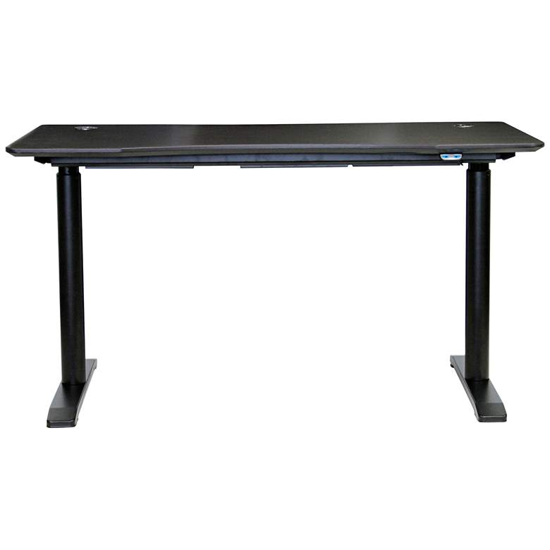 "100 Collection 55"" Wide Espresso Electric Standing Desk"