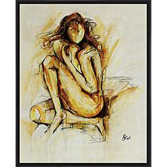 """Golden Girl I 21"""" High Framed Wall Art"""