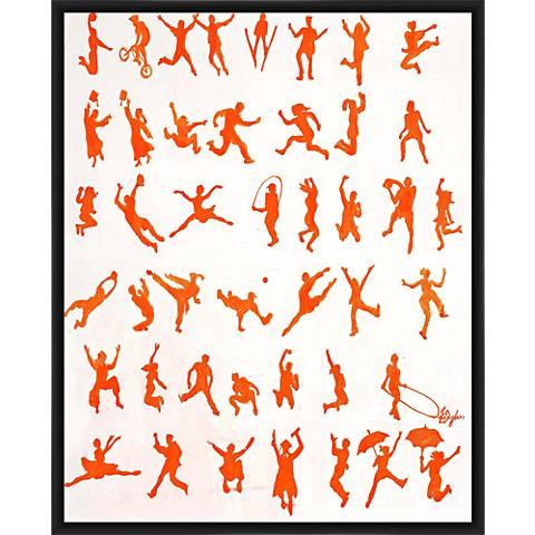 "Jump of Life 21"" High Framed Wall Art"