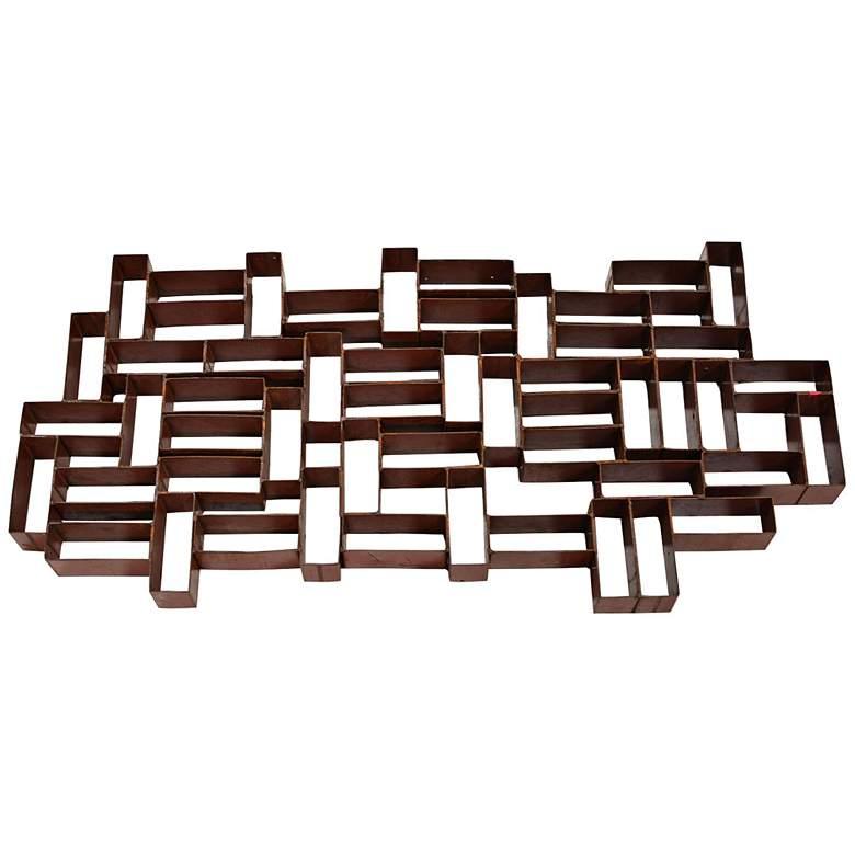 """Industrial Bricks 32 1/2"""" Wide Metal Wall Art"""