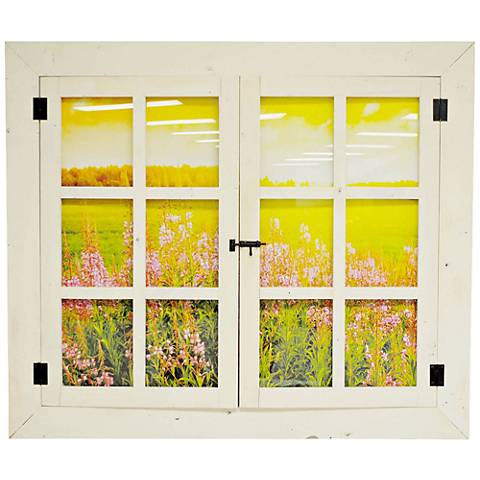 "Enjoy the Summer 41 1/2"" Wide Window Wall Art"