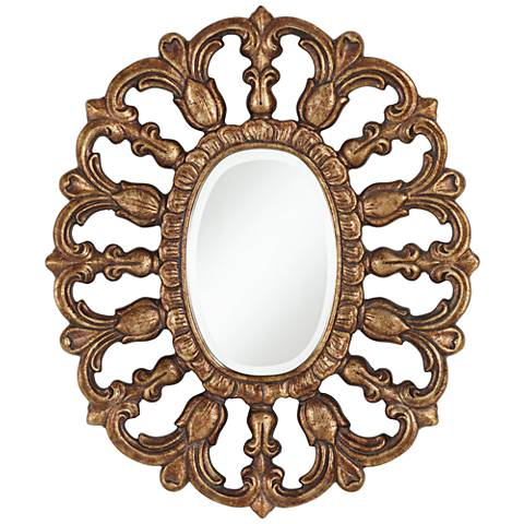 "Fairdale Bronze 25 3/4"" x 31 1/2"" Oval Wall Mirror"