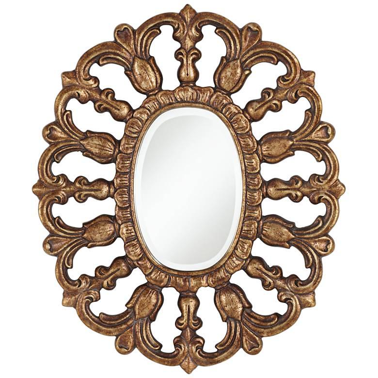 "Fairdale Bronze 25 3/4"" x 31 1/2"" Oval Wall Mirror"