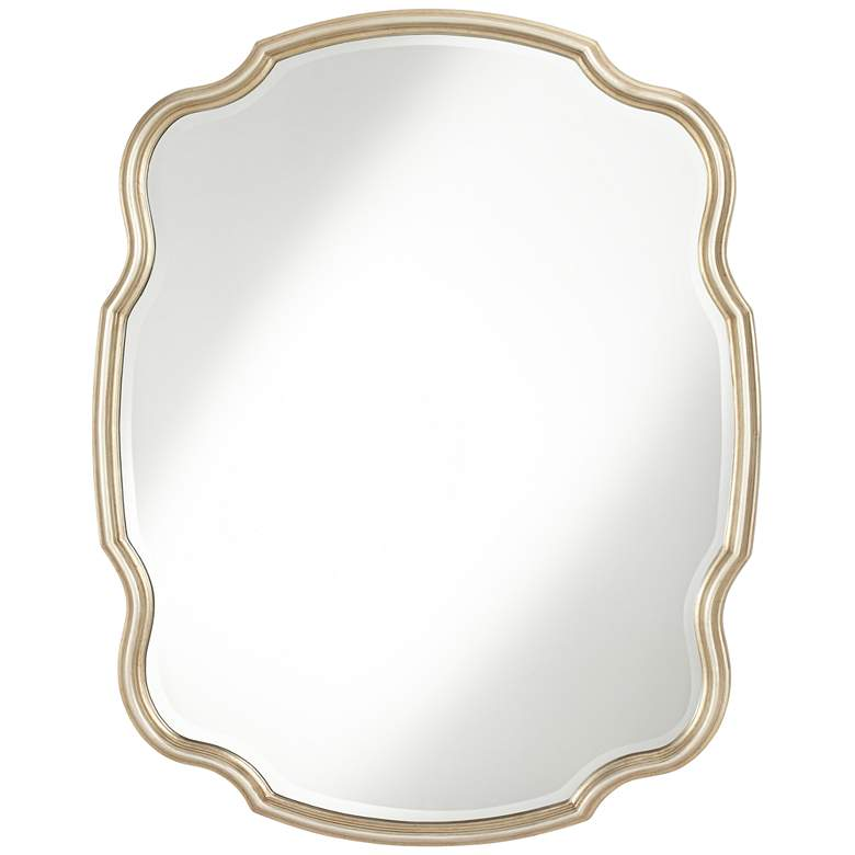"""Melba Champagne Gold 33"""" x 42"""" Curved Wall Mirror"""