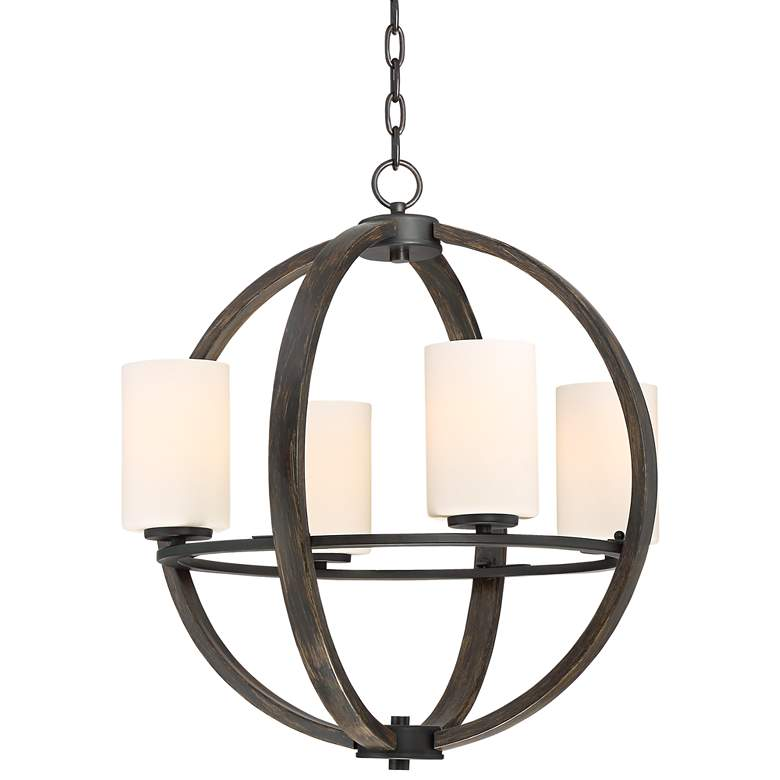 "Keefe 22"" Wide 4-Light Orb Chandelier by Franklin Iron Works"