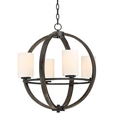 """Keefe 22"""" Wide 4-Light Orb Chandelier by Franklin Iron Works"""