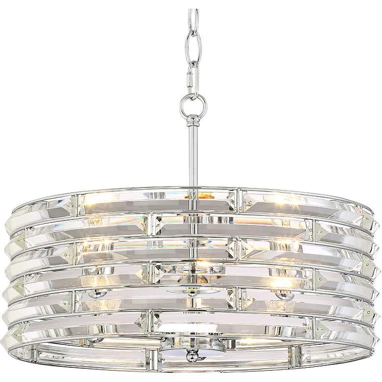 "Possini Euro Ebbets 18 1/4"" Wide Chrome Round Pendant Light"