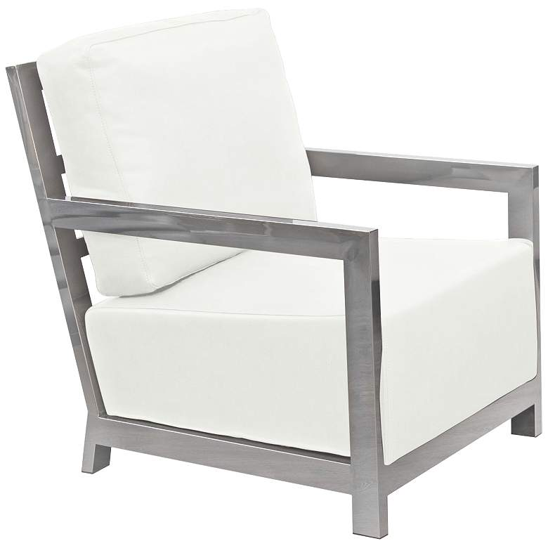 Stupendous Zen White Bonded Leather Accent Chair Ibusinesslaw Wood Chair Design Ideas Ibusinesslaworg