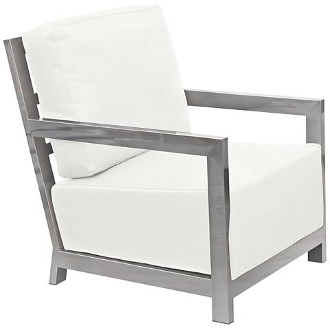 Zen White Bonded Leather Accent Chair