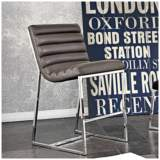 "Bardot 29"" Elephant Gray Bonded Leather Bar Chair"