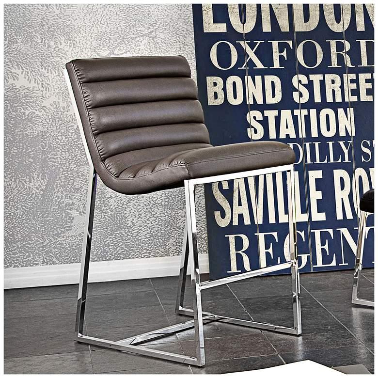 "Bardot 29"" Elephant Gray Modern Bar Chair"