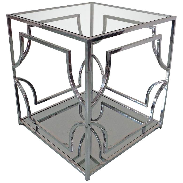 Avalon Clear Glass Top Stainless Steel Square End