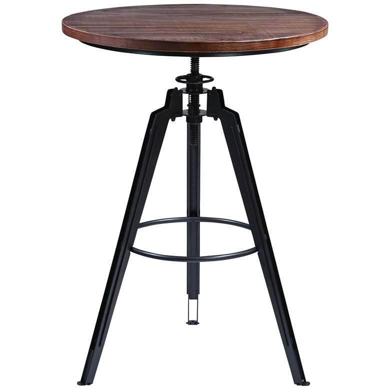 "Tribeca 30"" Wide Industrial Tripod Adjustable Pub Table"
