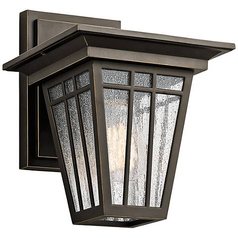 "Kichler Woodhollow 11 1/2""H Bronze Outdoor Wall Light"
