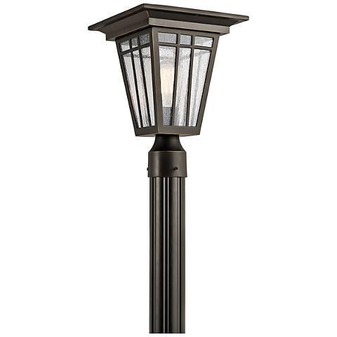 """Kichler Woodhollow 14 1/2""""H Bronze Outdoor Post Light"""