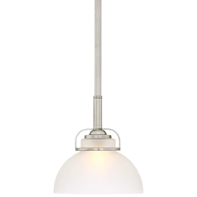 "Calpella 6 1/2"" Wide Etched Glass Mini Pendant Light"