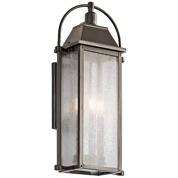 Kichler Harbor Row 23 1 4 High Bronze Outdoor Wall Light 9h793 Lamps Plus