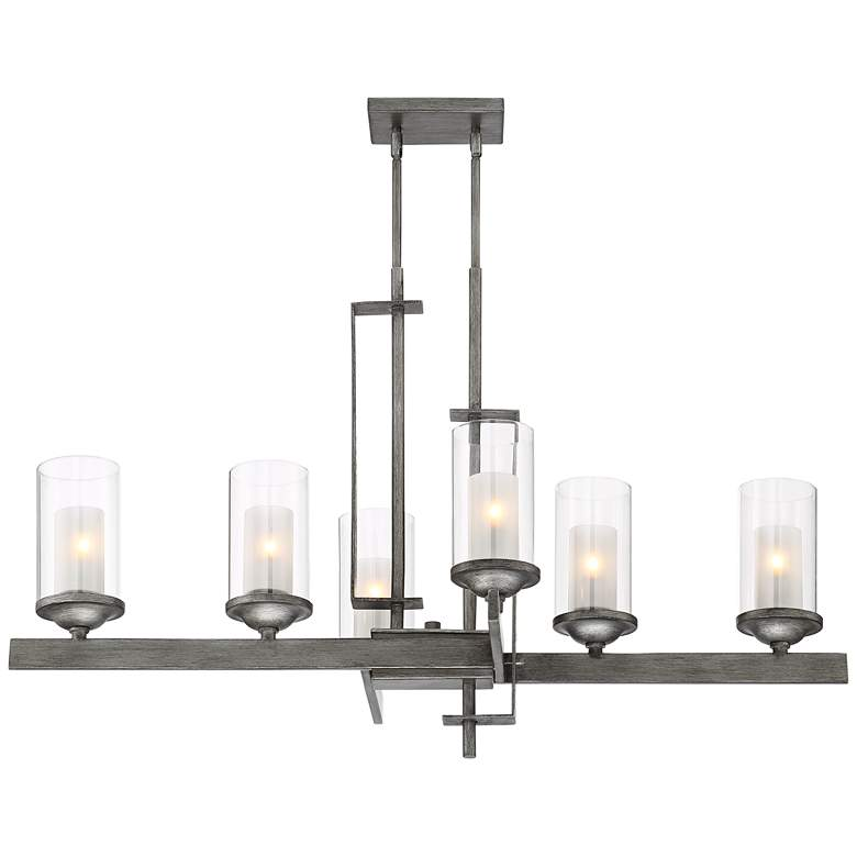 "Ribera 40"" Wide Silver Gray Kitchen Island Light Chandelier"