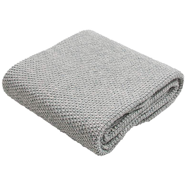 Jaipur Parade Pale Blue Cotton Throw Blanket