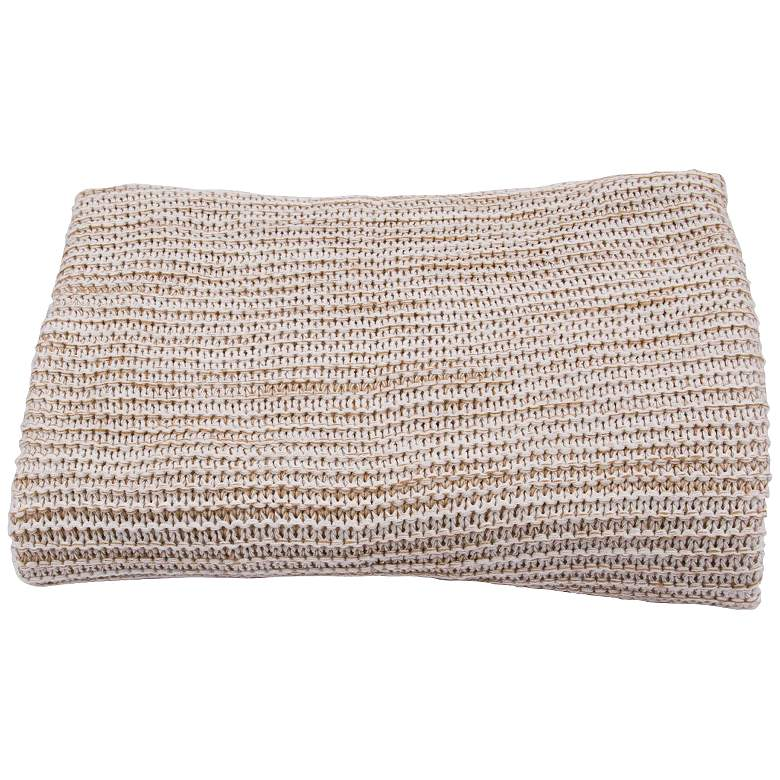 Jaipur Gem Light Tan Acrylic Throw Blanket
