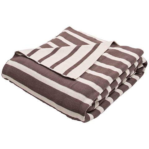 Jaipur Trinity Brown and Ivory Cotton Throw Blanket