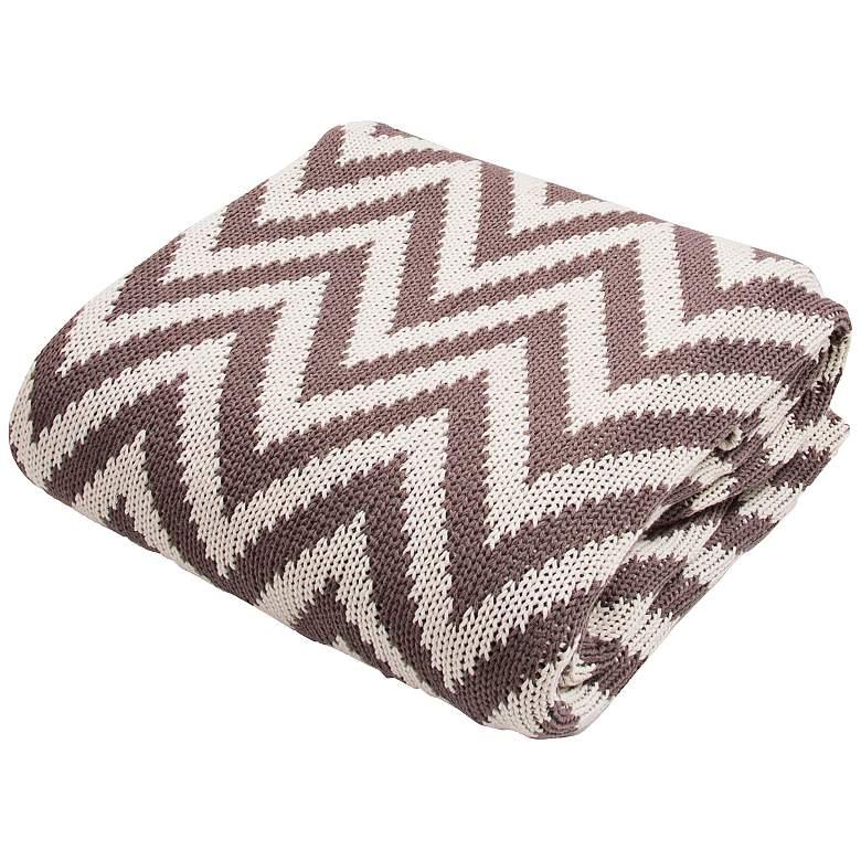 Jaipur Serin Chevron Brown Cotton Throw Blanket