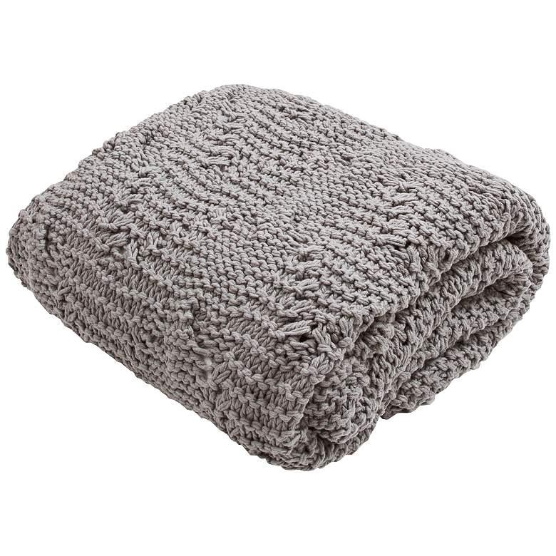 312e8f5ea Jaipur Serin Light Gray Cotton Throw Blanket