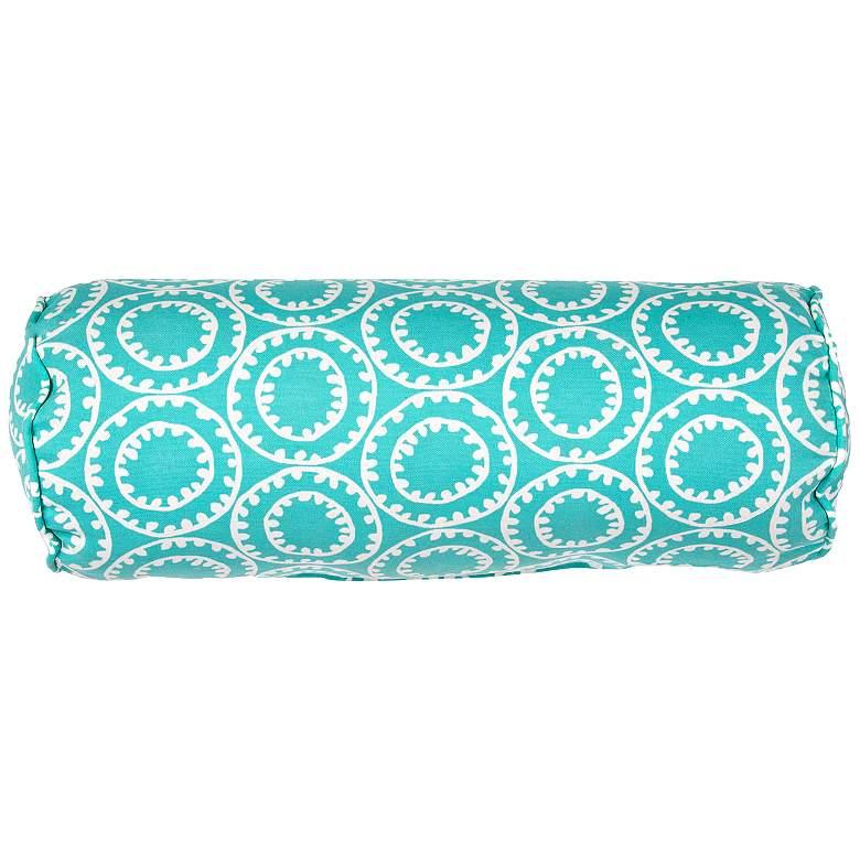 "Jaipur Veranda Turquoise 20""x7"" Indoor-Outdoor Pillow"