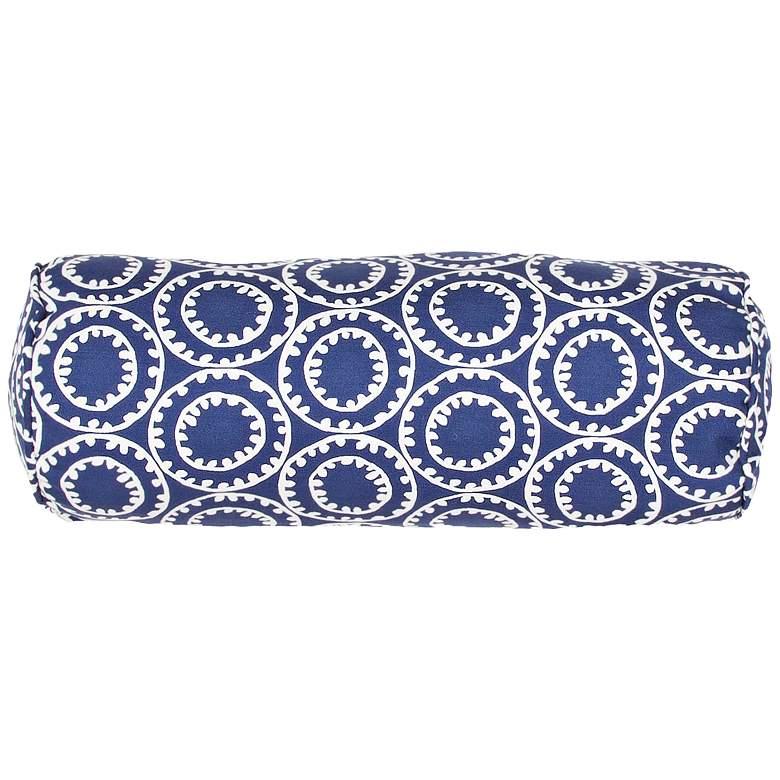 "Jaipur Veranda Dark Blue 20""x7"" Indoor-Outdoor Pillow"