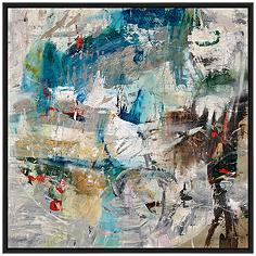 """Star II 37 1/2"""" Square Floated Canvas Wall Art"""