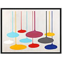 """Thought Bubbles 41 1/2"""" Wide Floated Canvas Wall Art"""