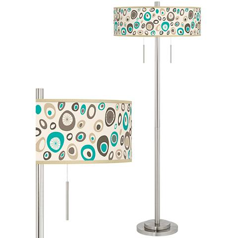 Stammer Taft Giclee Brushed Nickel Floor Lamp