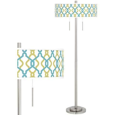 Hyper Links Taft Giclee Brushed Nickel Floor Lamp
