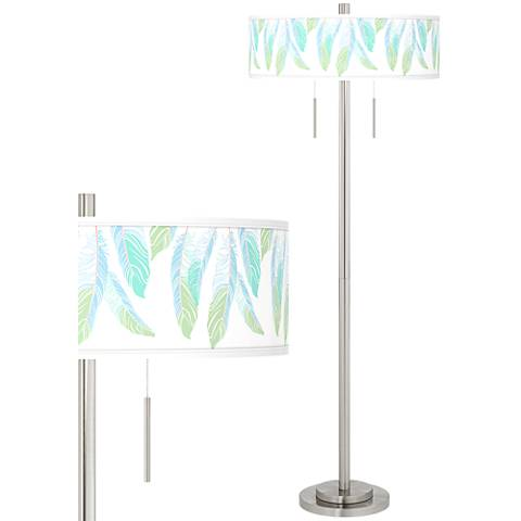 Light as a Feather Taft Giclee Brushed Nickel Floor Lamp