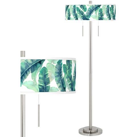 Guinea Taft Giclee Brushed Nickel Floor Lamp