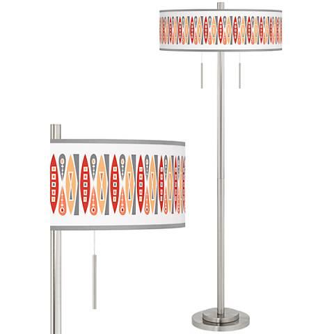 Vernaculis VI Taft Giclee Brushed Nickel Floor Lamp